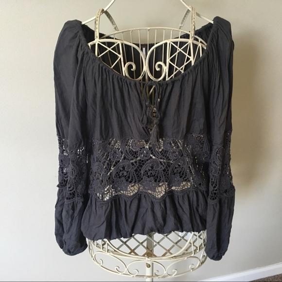 Women Plus Size Black Sleeveless Peasant Top Blouse Shirt Casual Keyhole Tassels